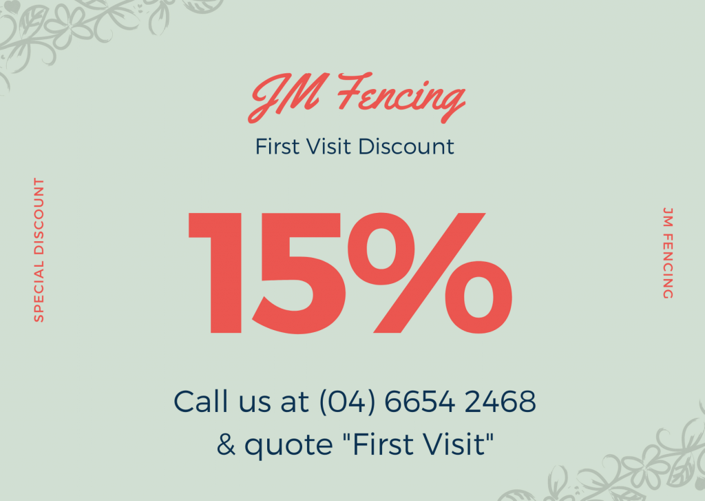 jm fencing first visit coupon